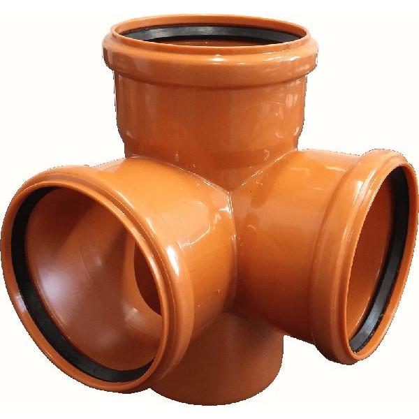 Крестовина наружной канализации 110/110/110 х87 РТП (двуплоскостная)