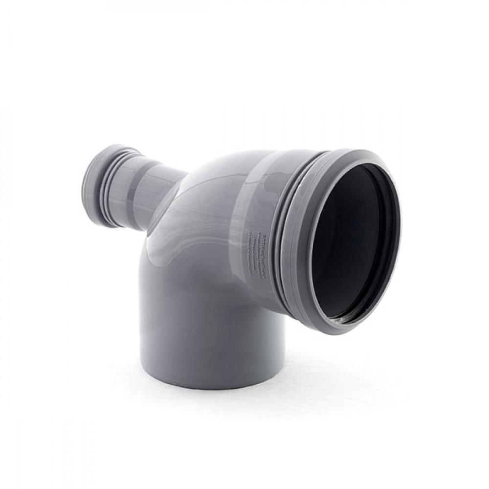 Отвод  универсальный 110 с выходом 50 87° (фронт-тыл)