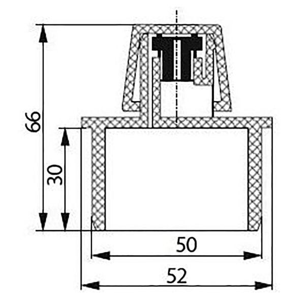 Аэратор канализационный  50 ВК