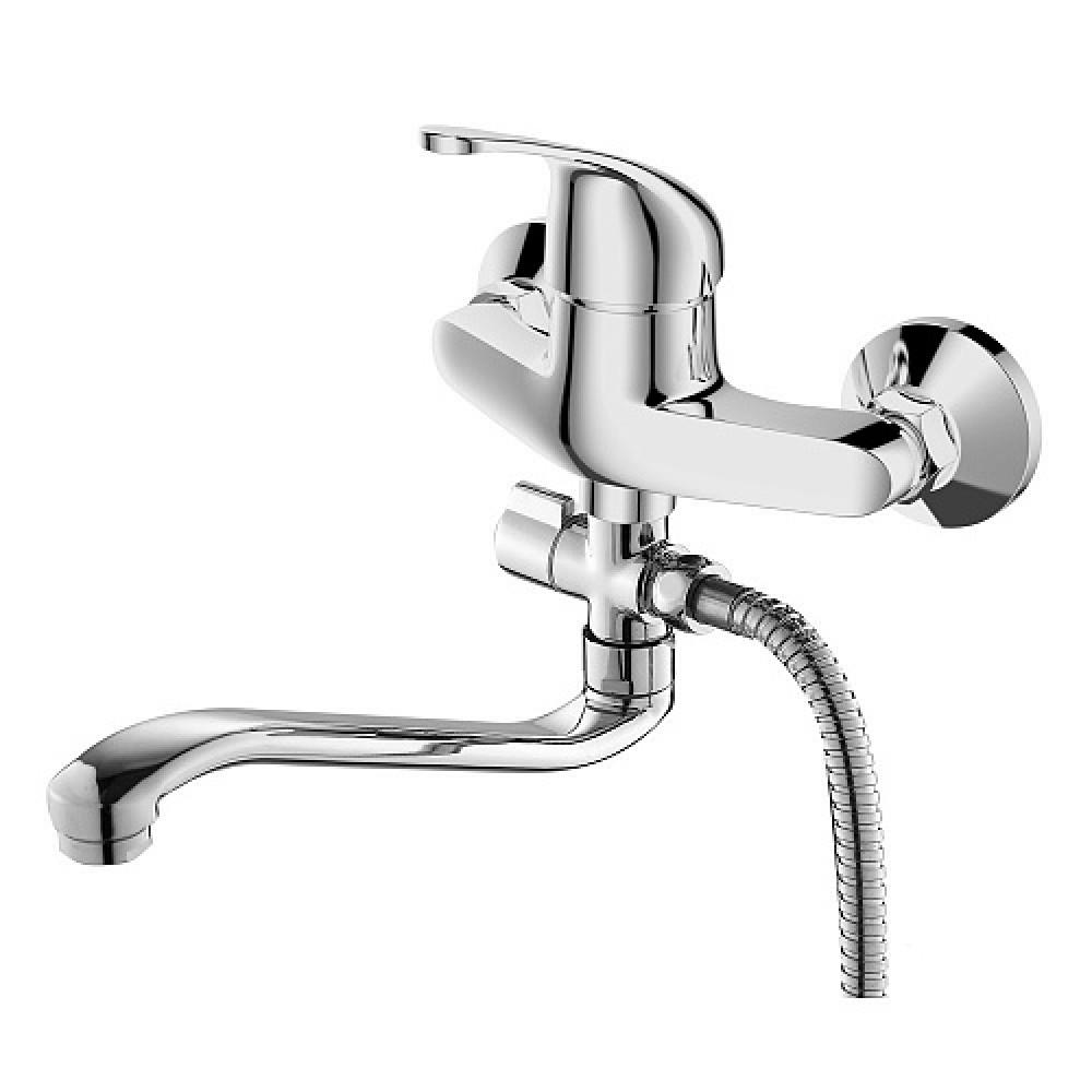 Смес. DEVIDA серия ELRA ванна, с поворотным изливом и наружным поворотным дивертором