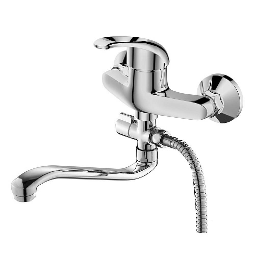 Смес. DEVIDA серия ENZO ванна, с поворотным изливом и наружным поворотным дивертором