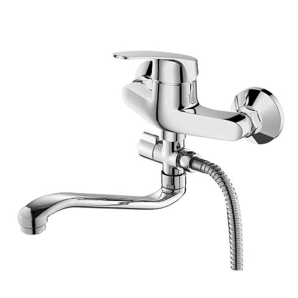 Смес. DEVIDA серия ELSI ванна, с поворотным изливом и наружным поворотным дивертором