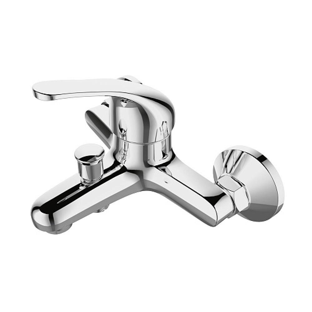 Смес. DEVIDA серия ELRA ванна, с литым корпусом-изливом и кнопочным дивертором