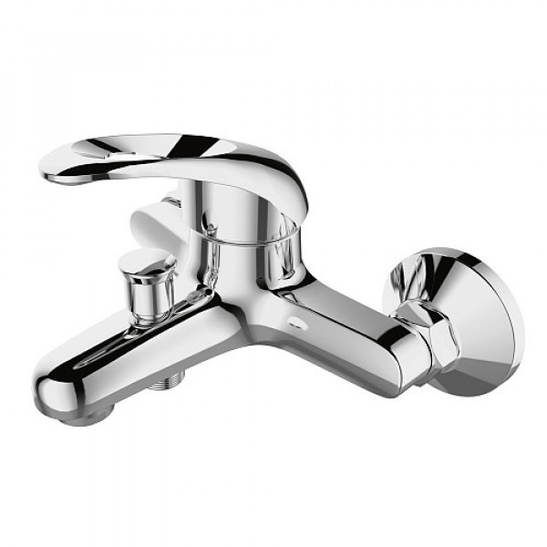 Смес. DEVIDA серия ENZO ванна, с литым корпусом-изливом и кнопочным дивертором
