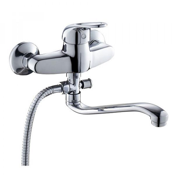 Смес. DEVIDA серия URBI ванна, с поворотным изливом и наружным кнопочным дивертором