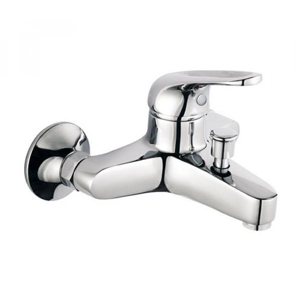 Смес. DEVIDA серия URBI ванна, с литым корпусом-изливом и кнопочным дивертором