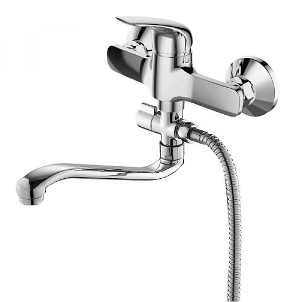 Смес. DEVIDA серия LOZZI ванна, с поворотным изливом и наружным поворотным дивертором