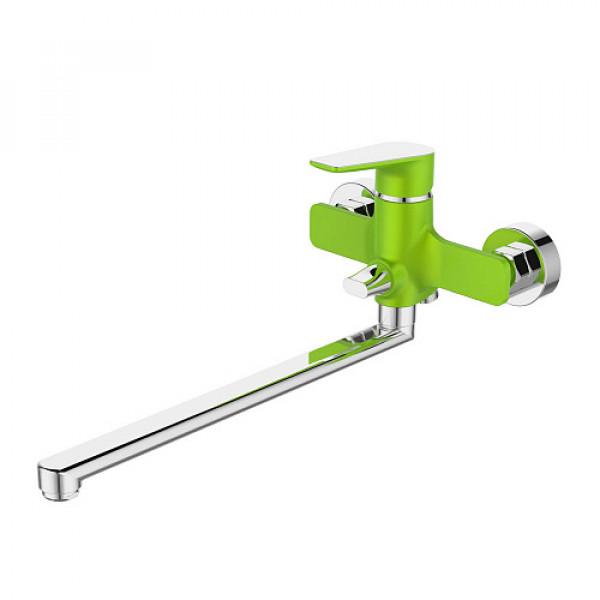 Смес. DEVIDA серия VIVA-GRASS ванна, с поворотным изливом и встроенным поворотным дивертором, зелен