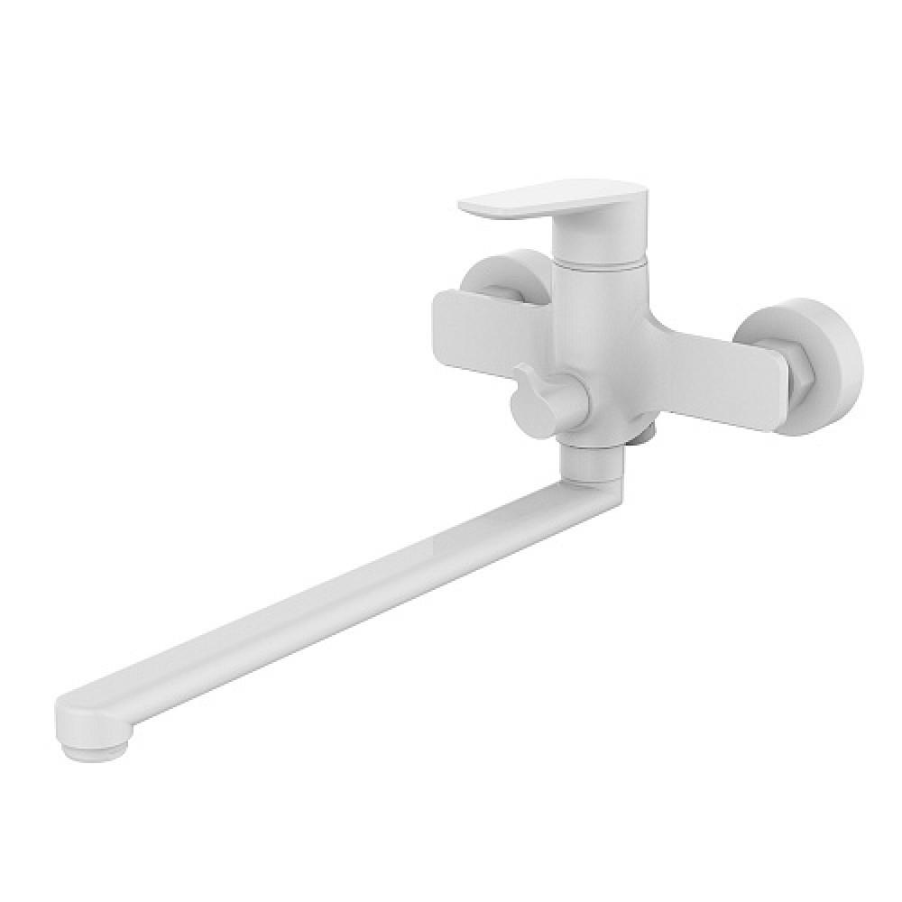 Смес. DEVIDA серия VIVA-WHITE ванна, с поворотным изливом и встроенным поворотным дивертором, белый