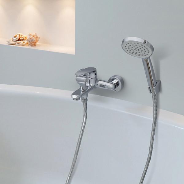 Смес. DEVIDA серия ARBO ванна, с литым корпусом-изливом и поворотным дивертором