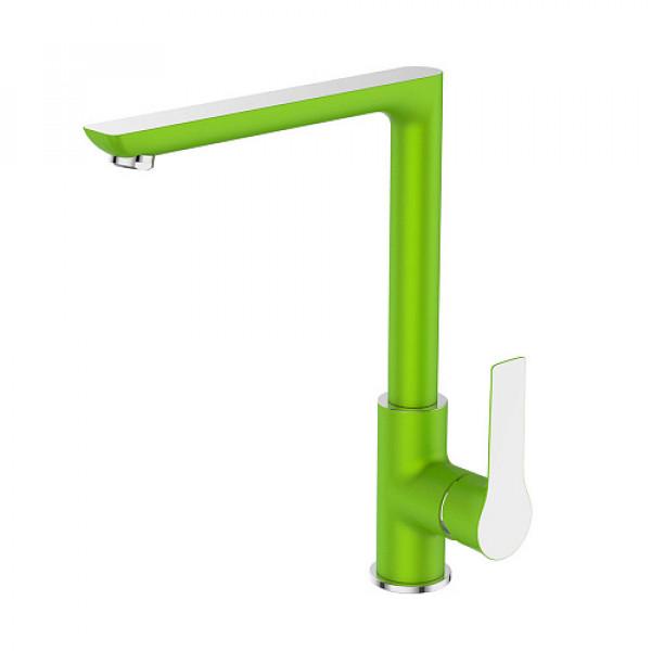 Смес. DEVIDA серия ZUTTO-GRASS кухня, с боковой ручкой, на гайке, зеленый