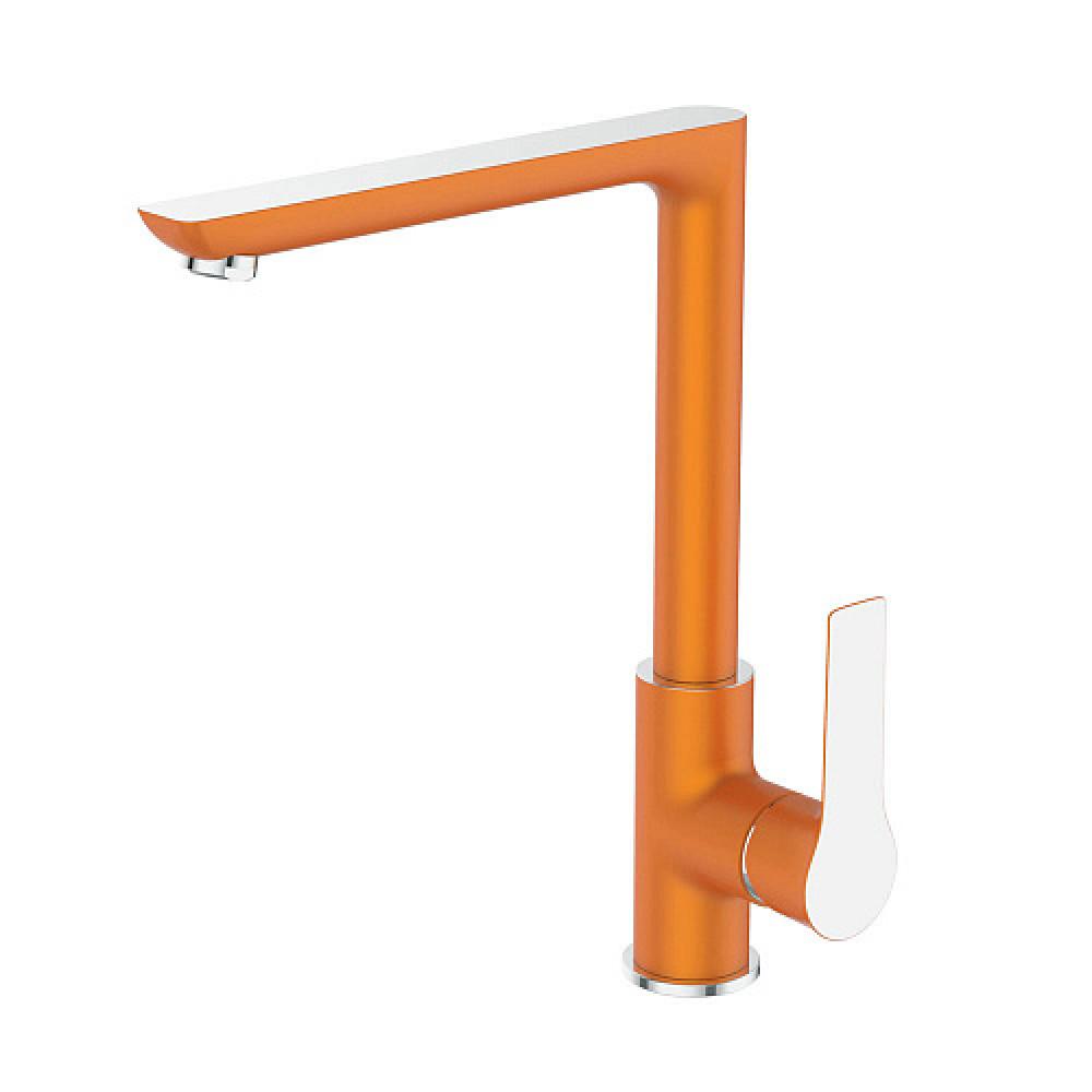 Смес. DEVIDA серия ZUTTO-ORANGE кухня, с боковой ручкой, на гайке, оранж