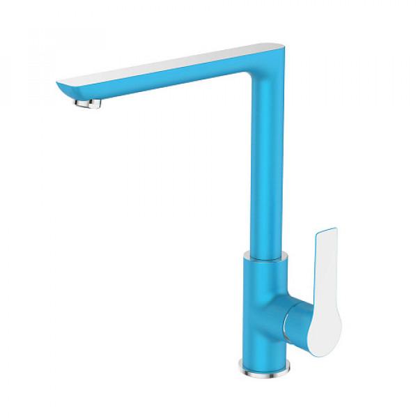 Смес. DEVIDA серия ZUTTO-SKY кухня, с боковой ручкой, на гайке, синий