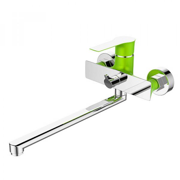 Смес. DEVIDA серия ZUTTO-GRASS ванна, с поворотным изливом и встроенным поворотным дивертором, зеле