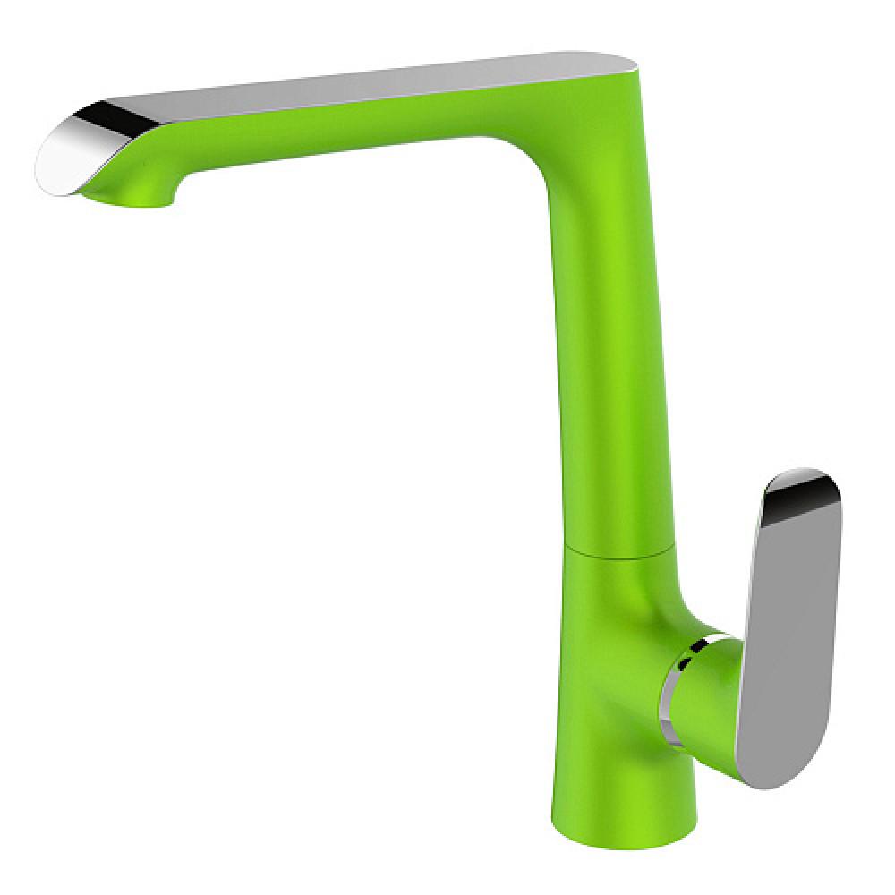 Смес. DEVIDA серия GEMMA-GRASS кухня, с боковой ручкой, на гайке, зеленый