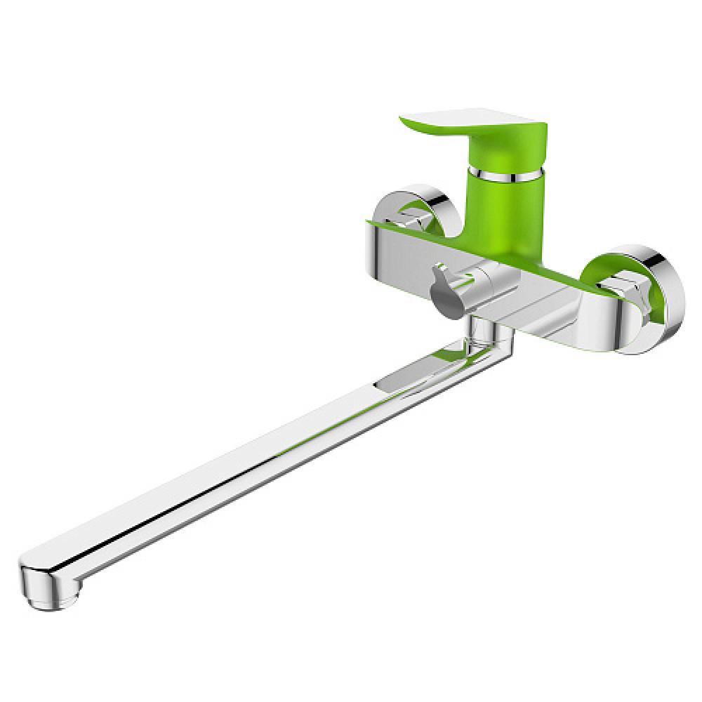 Смес. DEVIDA серия GEMMA-GRASS ванна, с поворотным изливом и встроенным поворотным дивертором, зеле