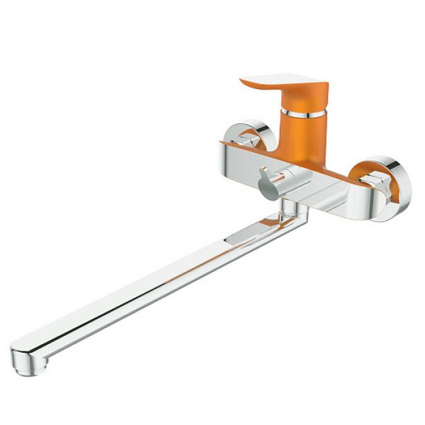 Смес. DEVIDA серия GEMMA-ORANGE ванна, с поворотным изливом и встроенным поворотным дивертором, ора