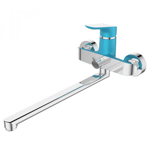Смес. DEVIDA серия GEMMA-SKY ванна, с поворотным изливом и встроенным поворотным дивертором, синий