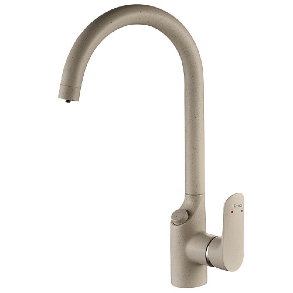 Смес. DEVIDA для питьевой воды с кнопочным переключателем, дымчатый, на гайке