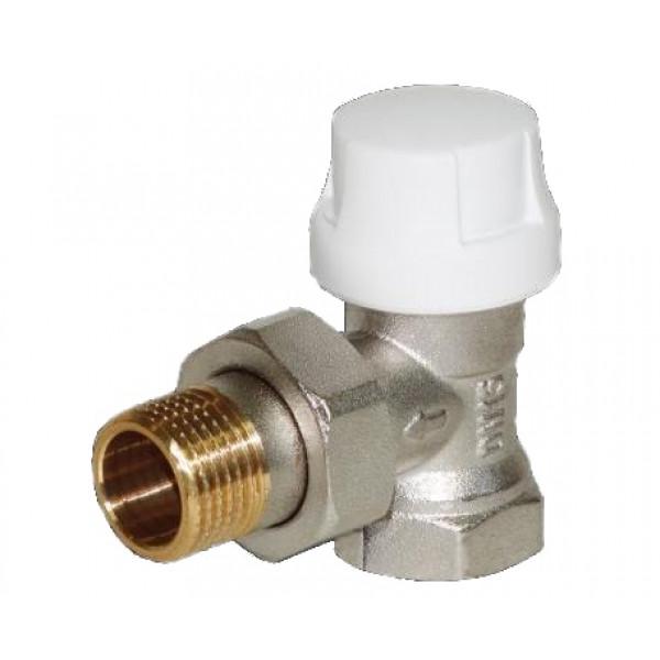 """Термостатический клапан с преднастройкой угловой G½"""" x G½"""""""